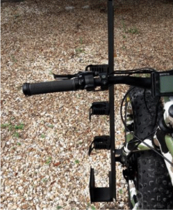 Fishing and gun holder for Ebikes