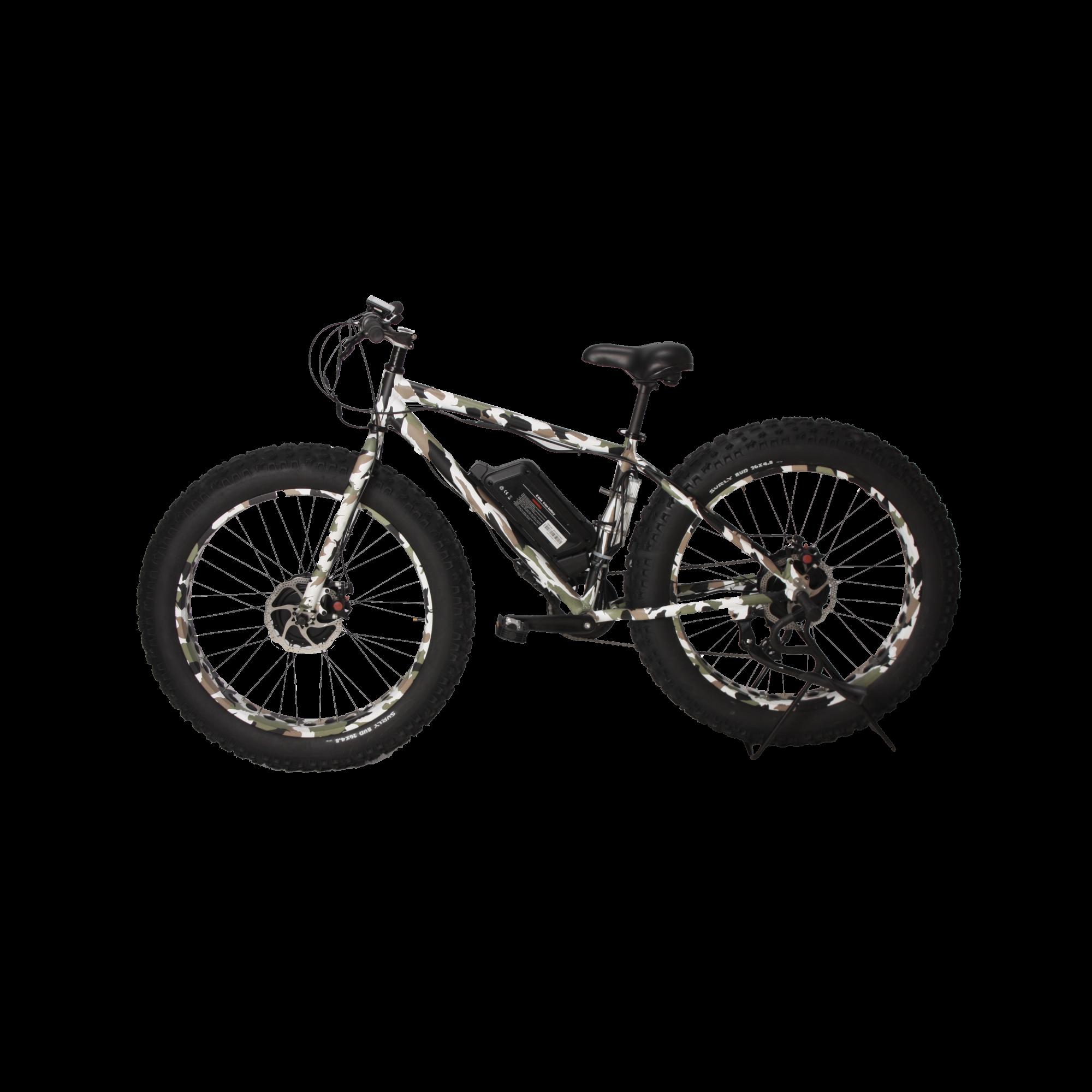 ba92cbbf124 E-Cherokee 1250W Front-Wheel Drive Fat Tire E-Bike