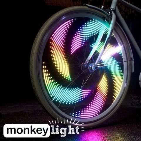 Monkey Light M204 LED Bike Wheel Spoke Color Light 5 Themes Flashing Safety