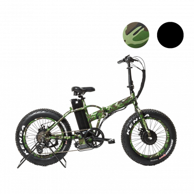 UltraTrek Electric Bikes E Buffalo Camo 1250w and 2500w Folding Electric Bikes