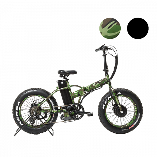 UltraTrek Electric Bikes E Buffalo Camo 1250w and 2500w Folding Electric Bikes