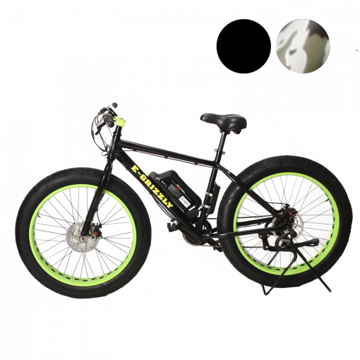 E-Grizzly Black 1250w and 2500w Dual Motor Electric Bikes