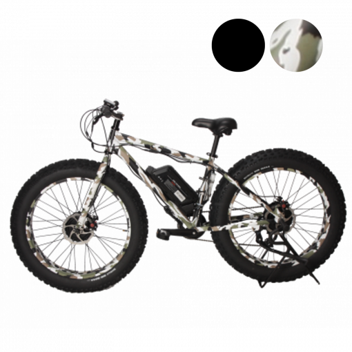 E-Grizzly Camo 1250w and 2500w Dual Motor Electric Bikes