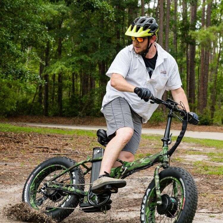 2500w Dual Motor Fat Tire Electric Bikes Folding E-Bikes