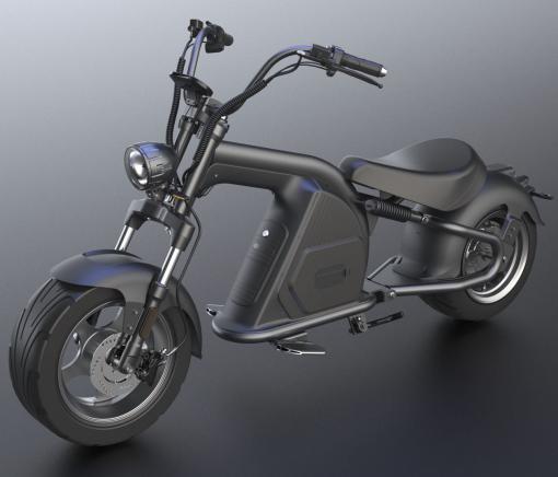 3000w UltraTrek Chopper Dual Suspension Electric Motor Bike Black