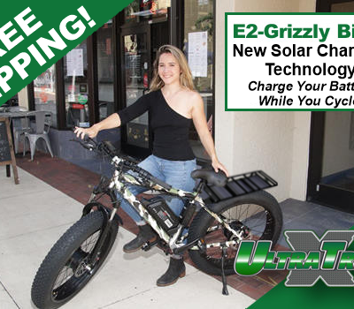UltraTrek Electric Bikes Dual and Single Free Shipping Solar Charging Panel