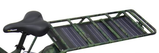Solar Panel Charger in Rear Rack Camouflage